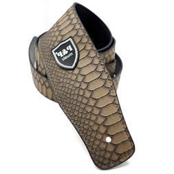 "2.6"" inch Wide PU Leather Python Skin Pattern Adjustable Gui"