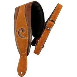 LM Products X-Clef Worn Leather Bass Strap - Brown