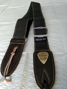 Soldier 2002 BLACK DENIM Adjustable Guitar Strap!! FREE USA