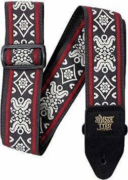 Ernie Ball Blackjack Red Jacquard Guitar Strap