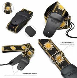 BestSounds C-150 Leather Adjustable Guitar Strap, Sun Jacqua