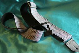 """CLOSEOUT! LM Products 2"""" Blue Plaid Cotton Guitar Strap, PL-"""