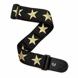 D'Addario Woven Guitar Strap, Gold Star