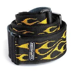 Dunlop D3811OY Flambe Yellow Strap