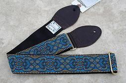 SOULDIER Guitar Strap ARABESQUE CUSTOM Blue Brown / Vintage