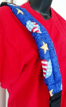 GUITAR STRAP STARS AND STRIPES SOFT FABRIC PERRIS LEATHERS I