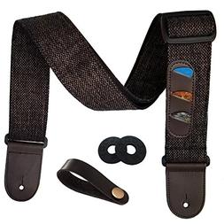 Guitar Strap Vintage Woven Style Adjustable Acoustic Electri