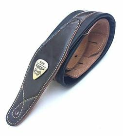 Soldier High-End Leather Padded Guitar Strap for Acoustic Gu