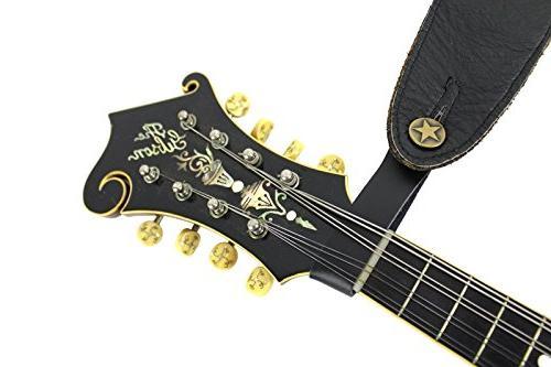Brown Strap Button Guitar
