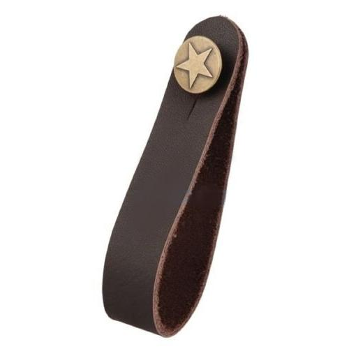 Brown Leather Strap Hook Button Acoustic / Folk