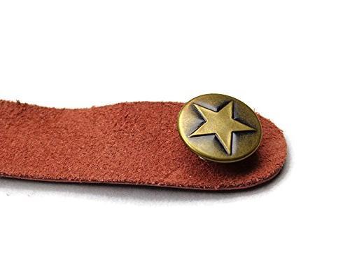 Brown Genuine Strap Button Acoustic