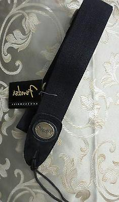 FENDER COTTON WOVEN GUITAR STRAP WITH OVAL EMBOSSED METAL LO