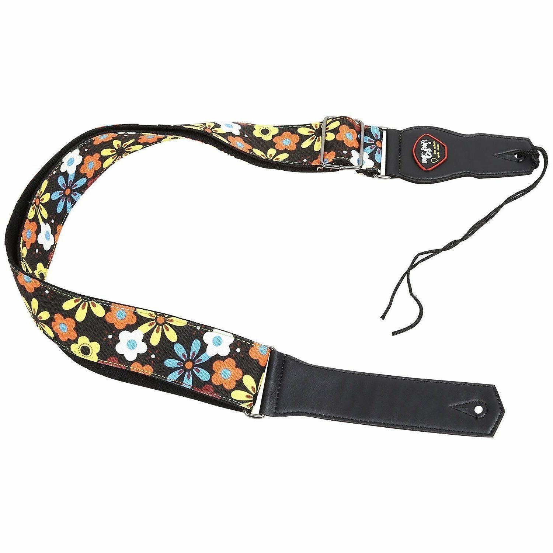 guitar strap adjustable soft cotton lovely flower