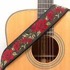 CLOUDMUSIC Guitar Strap Jacquard Weave Strap With Leather En