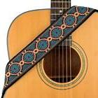 CLOUDMUSIC Guitar Strap Jacquard Weave With Leather Ends Vin