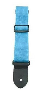 """Perri's Leathers 2"""" Wide Blue Cotton Guitar Strap - Made in"""