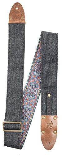 LM Products VD-NB Vintage Denim Guitar Strap, The Lexington