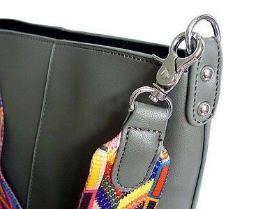 Womens Aztec Strap Shoulder Bag Body Bucket Bag Coloured