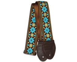 """New! Souldier Straps 2.0"""" Tulip Brown and Turquoise - Custom"""