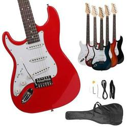 New Colorful Electric Guitar+Strap+Cord+Gigbag Beginner Pack