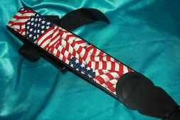 LM Products American Flag Print Guitar Strap, 3 In. Wide, PS