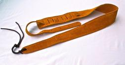 Guitar Strap RUST SUEDE LEATHER Fits All Acoustic & Electric