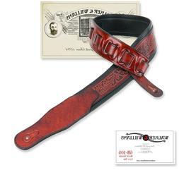Walker & Williams GB-105 Black Cherry Padded Glove Leather
